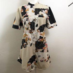 Phillip Lim x Target Floral Shirt Dress Medium